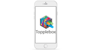 Phone mock-up with topplebox app.